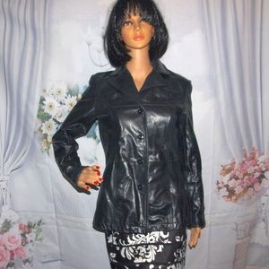 Woman's Leather Coat Jacket Wilson's Leather M